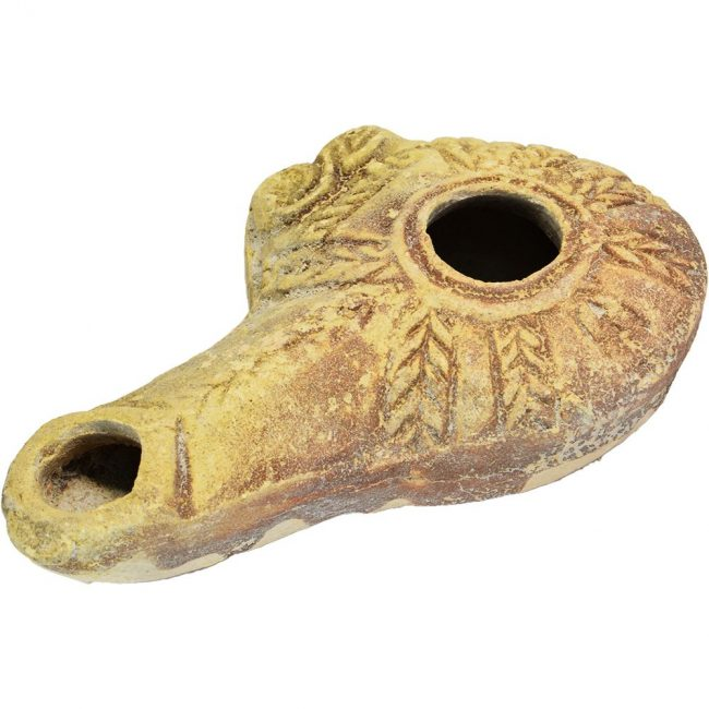 oil lamp ancient clay