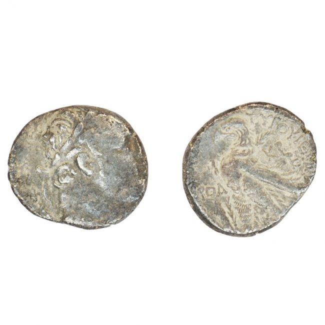 temple tax silver ancient coin
