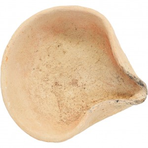 ancient biblical clay oil lamp