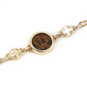 Gold bracelet ancient coin jewlery