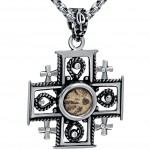 Widows mite in a Jerusalem cross pendant