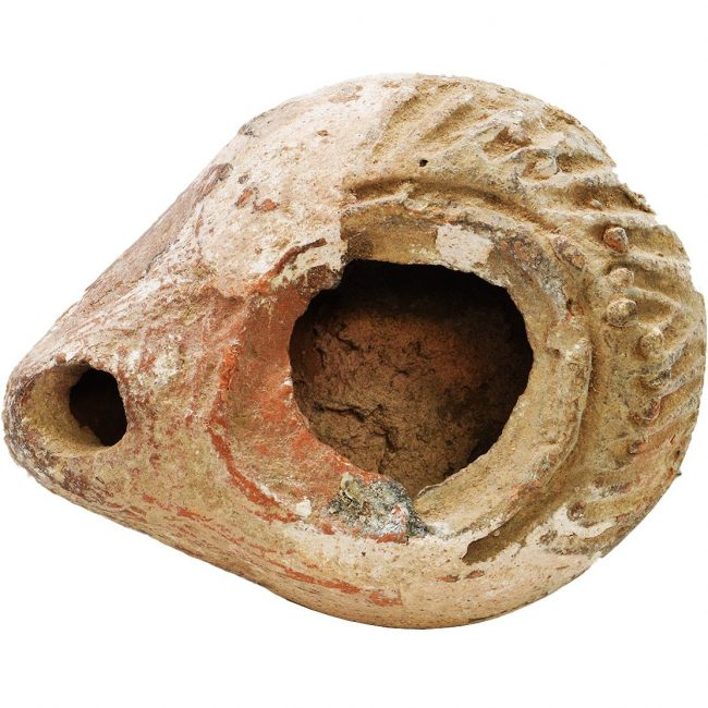Roman Oil Lamp Ancient Pottery