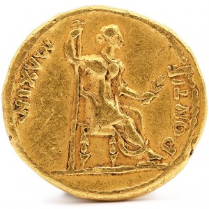 Gold Aureus Tiberius Coin - Roman Empire