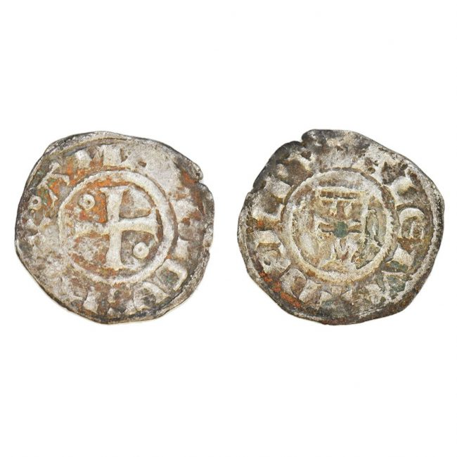 Crusader Silver Coin with a Cross