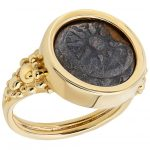 Widow's Mits in a 14k Gold Ring