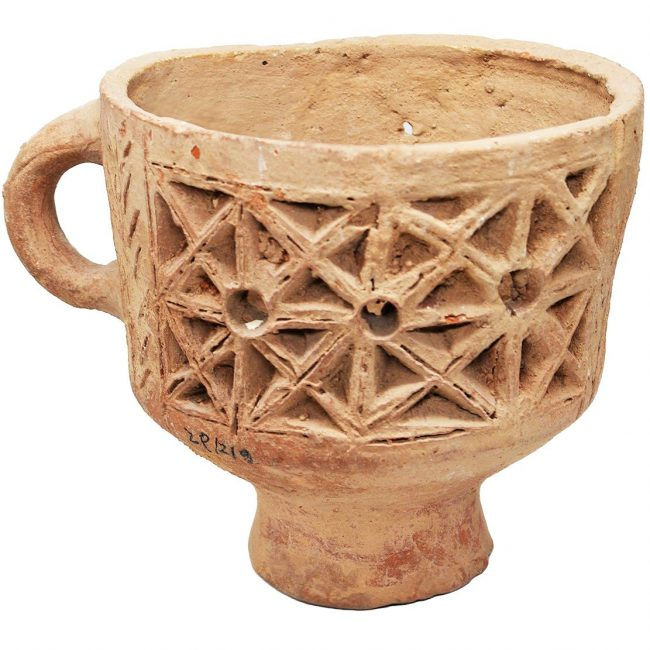 Floral Ancient Incense Burner 6th Century AD Byzantine Period