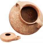 Ancient Cooking Pot and Oil Lamp from The Time of Jesus