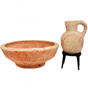 First Temple Period Bowl and a Pitcher - King David Era