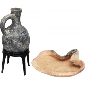 First Temple Period Oil Lamp and a Juglet- The Prophets Era Side Two