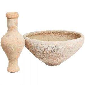 Herodian Bowl and Flask Set - Jesus Period Pottery