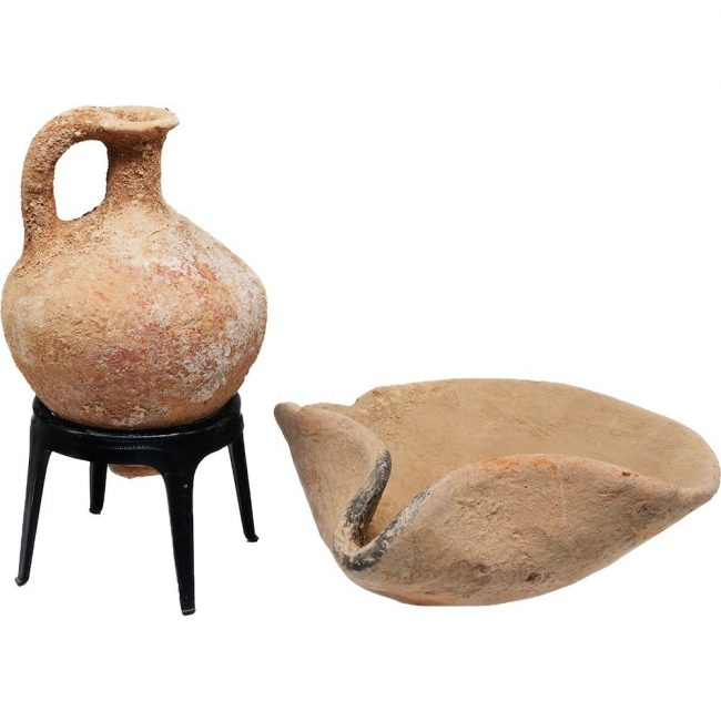 Middle Bronze Age Oil Lamp and a Juglet - Abraham's Period